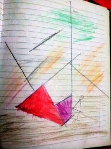 Ayunan yang Jatuh, karya Naya. Pensil Warna di Atas Kertas