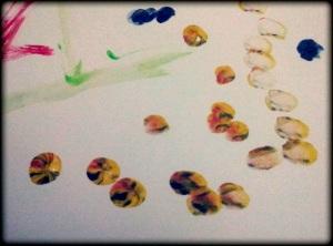 Jejak Warna-warni, karya Naya Lukisan Cat Air di Atas Kertas