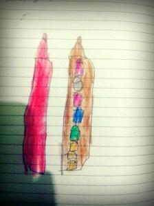 Pensil Warna-warni, karya Naya Pensil Warna di Atas Kertas